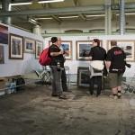 I år var en av de gamle verkstedhallene tatt i bruk som utstillingshall og det fungerte riktig bra.  (Foto: Morten M. Løberg)