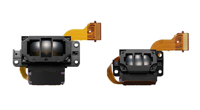 Sonys A77 Mk IIs nye AF-modul (t.v.), sammenlignet med den som sitter i forgjengeren A77.