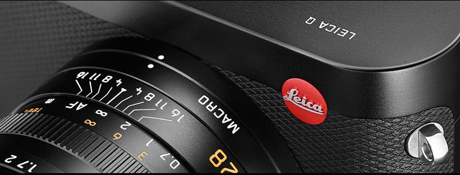 Leica Q har egen mekanisk omskifter for makro, med egen skalafokusering.