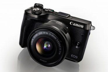 Canon EOS M6 med ekstern søker