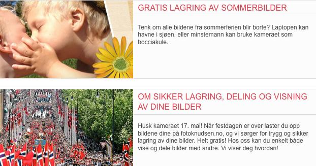 FotoKnudsens hjemmesider kan ennå skilte med tilbud