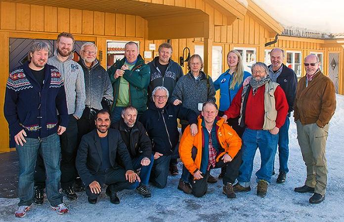 Norske Naturfotografers årsmøte, ny leder Kai Jensen til venstre. Foto: Kai Jensen