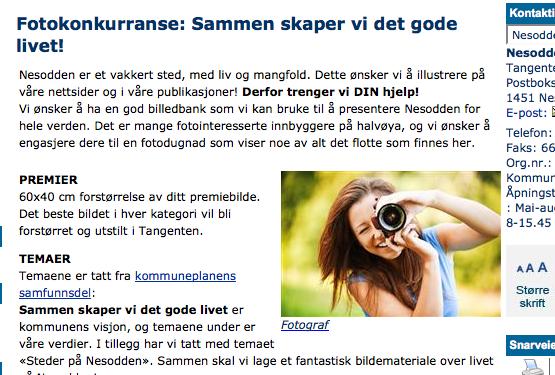 Nesooden kommune vil gjerne ha blinkskuddene dine – alldeles gratis og til evig tid. En god deal?