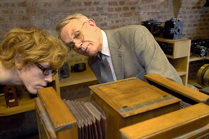 Alltid engasjert. Leif Preus i museet i 2006. (Foto: Morten M. Løberg)