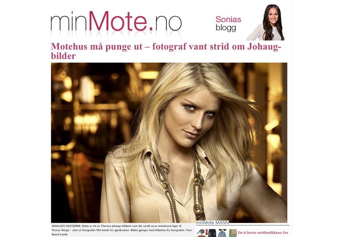 Ett av bildene magasinet Eget brukte i en pressemelding uten å ha avklart bruken med fotograf Baard Lunde først. (Faksimile fra MinMote.no)