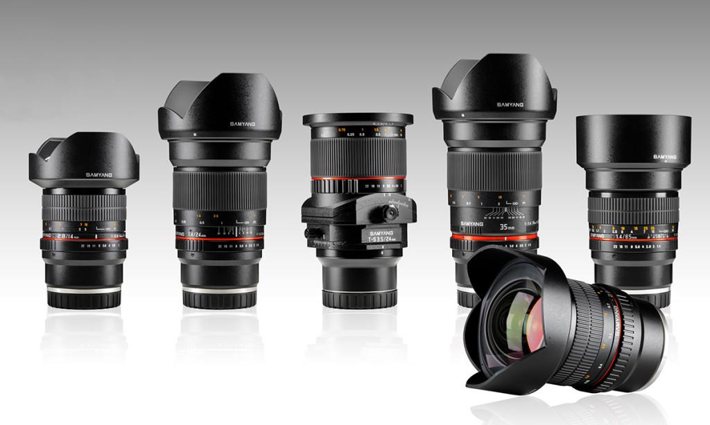 Samyang lanserer seks fullformatobjektiver for Sony E-fatning.