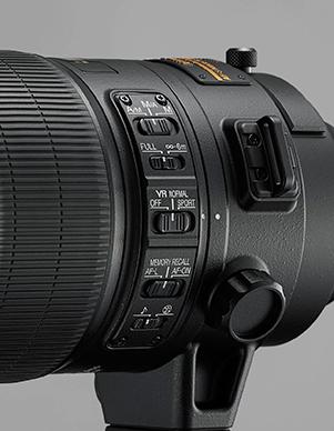 Nikons nye 400 mm har fått nytt stativfeste med kulelager i ringen.