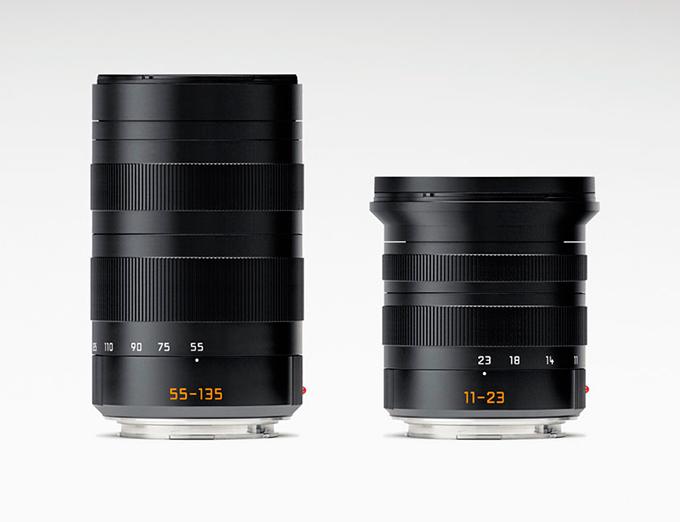 Super-Vario-Elmar-T 11-23 f/3,5–4,5 ASPH vidvinkelzoom og en APO-Vario- Elmar-T 55–135 f/3,5-5,6 ASPH telezoom (tilsv. hhv. 17–35 mm og 80–200 mm).