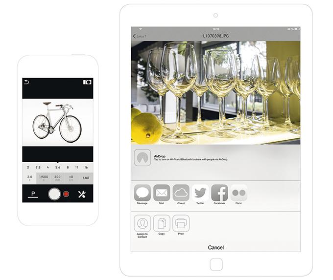 Med en gratis app kan du kontrollere kameraet via WiFi.