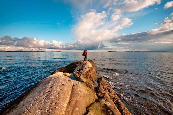 I mål. Østnestangen, Hurumlandet. © Marius Nergård Pettersen
