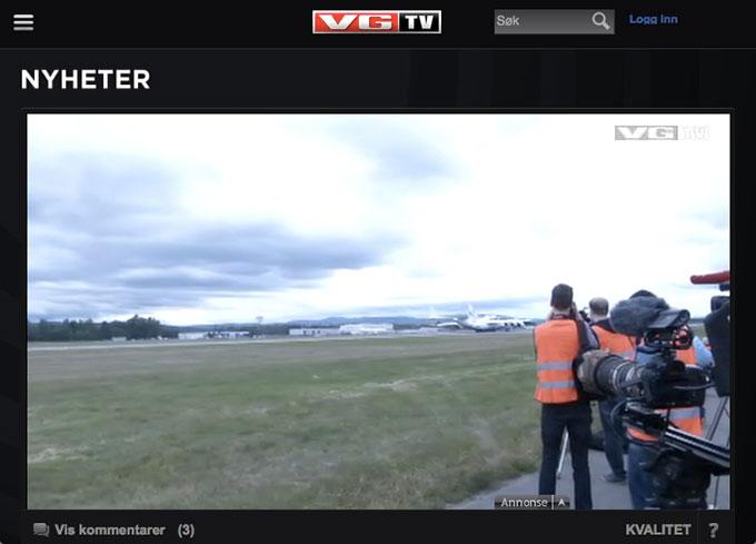 Skjermdump fra VGTV