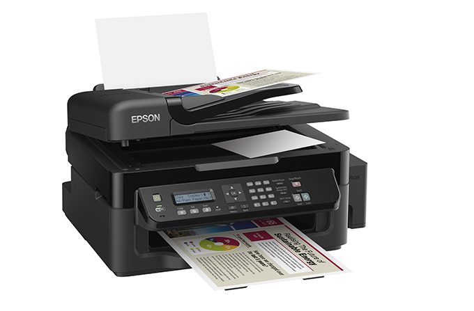 Epson L-555 er en multifunksjonsskriver med EcoTank-systemet.