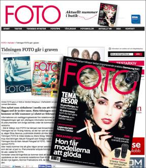Det svenske tidsskriftet FOTO blir lagt ned etter nr. 3-2015, som kommer i februar.