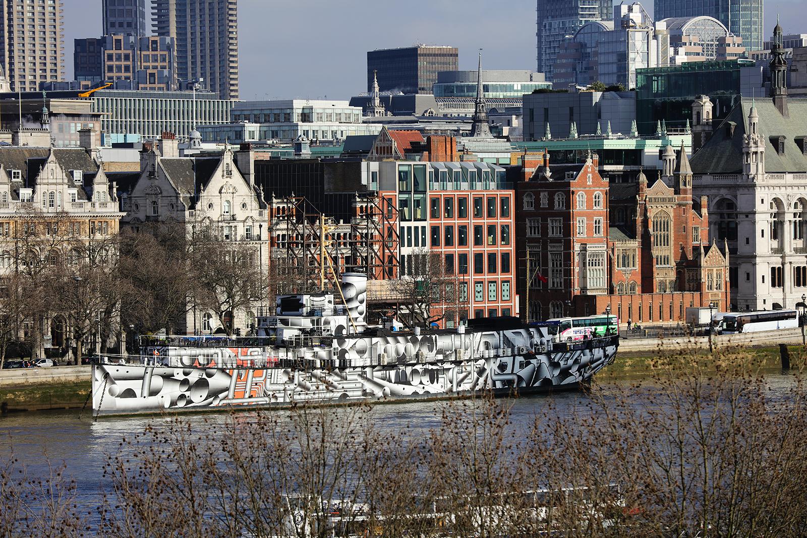Utsikt over Thames med EOS 5DSr og EF 70-200 mm f/2.8 II.