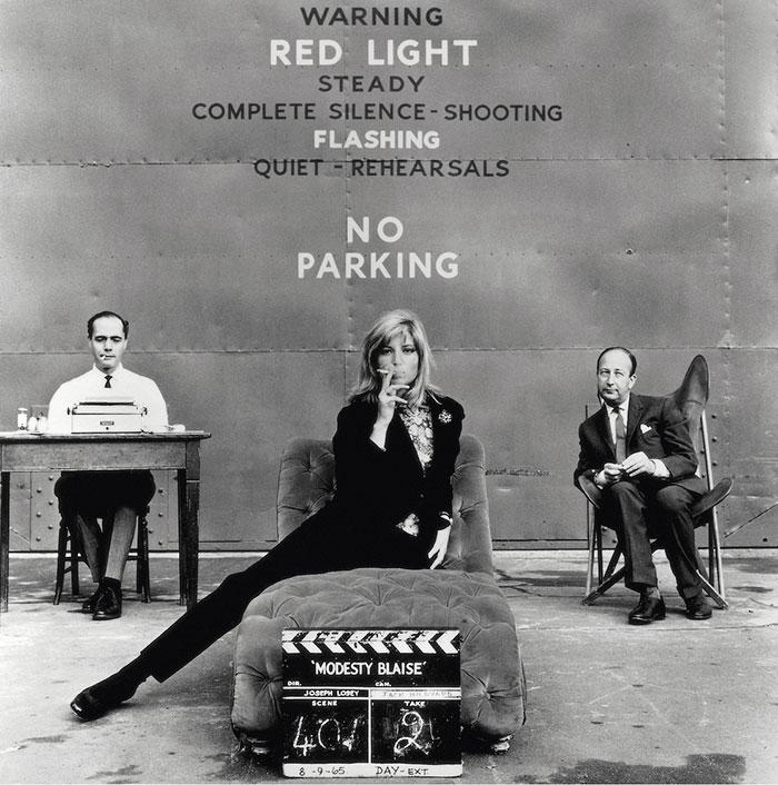 Monica Vitti, Pinewood Studios, Modesty Blaize, 1966 © Terry O'Neill