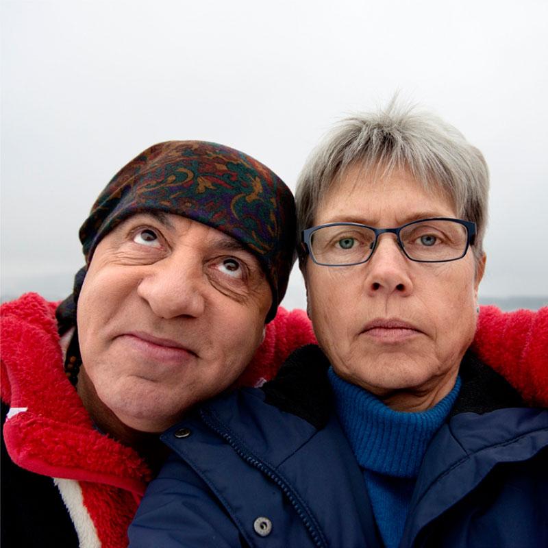 Mimsy (Margaret Irene) Møller, Selfie med Little Steven/Steven van Zandt, 2015. Tilhører Preus museums samling.